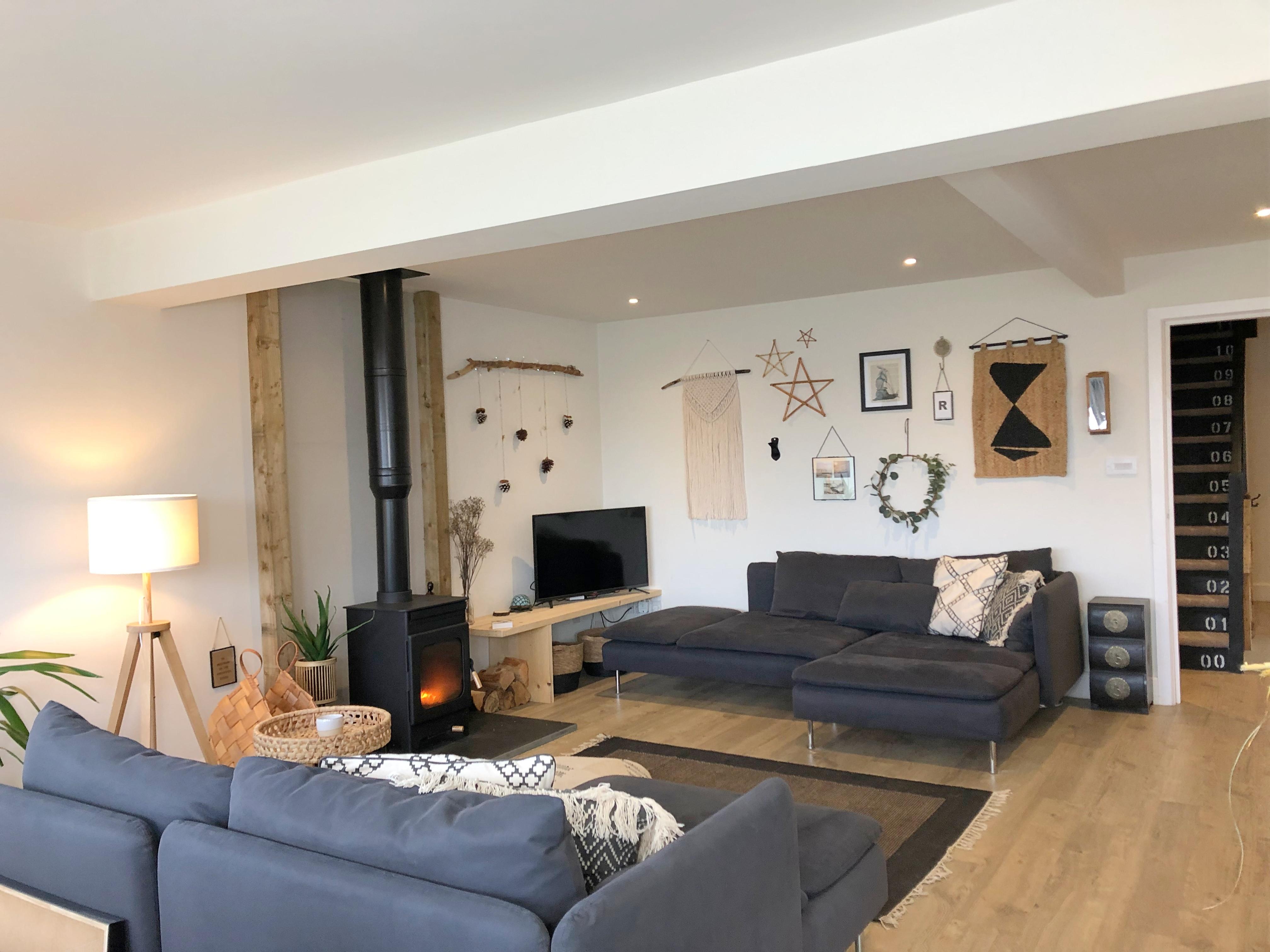 Living Room - Loads of comfy seats, Woodburner, smart TV, BT, Netflix, Amazon etc.